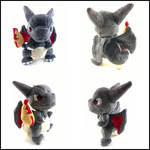 Chibi shiny charizard plush