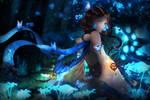 Blue Silk by Miriante