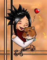 My avatar on Gaia with Talham by Neyrisa