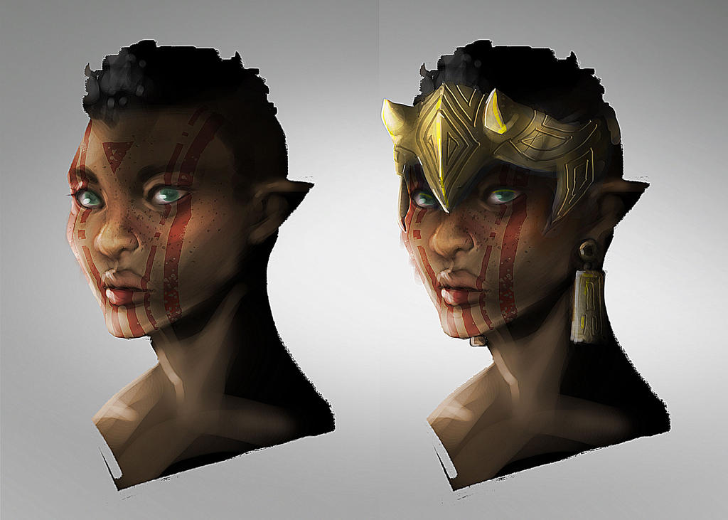 Elf faces by dathron