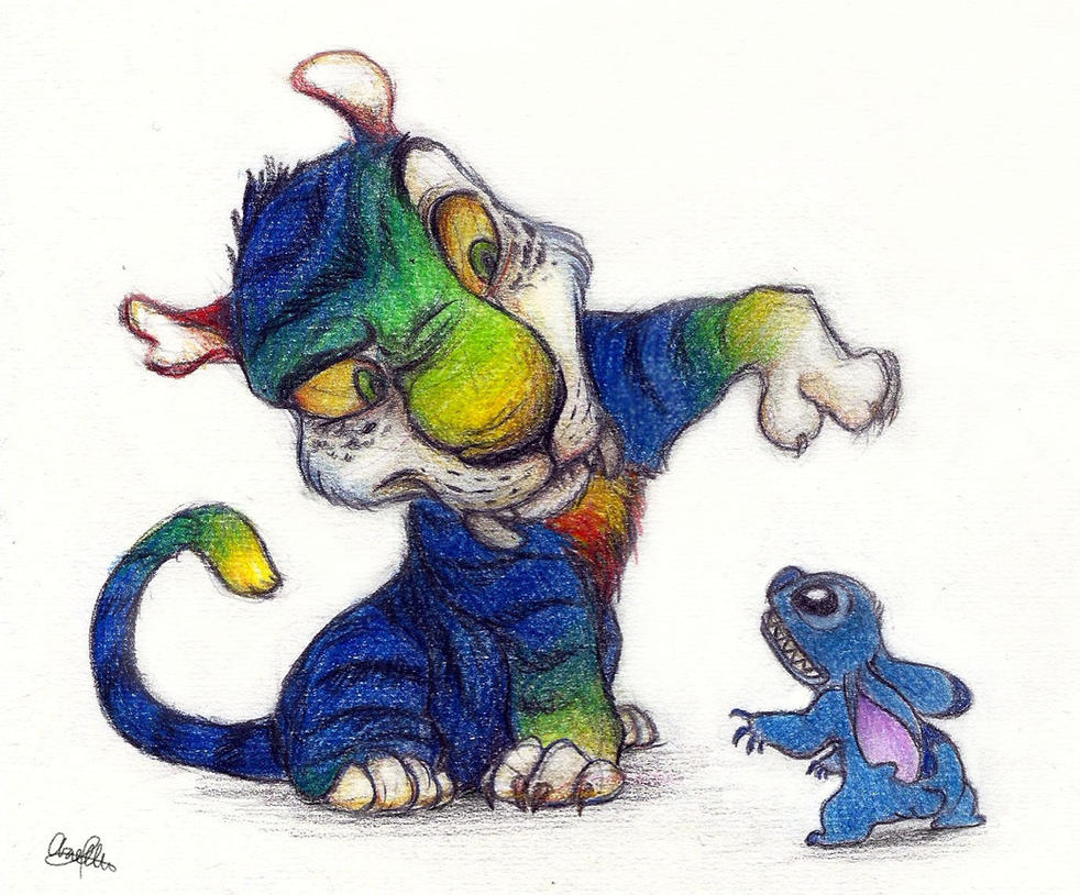 Chunky + Stitch by AriellaMay on DeviantArt