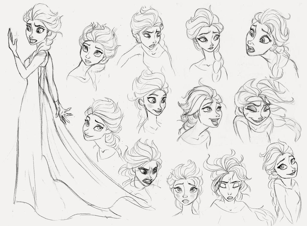 Elsa Sketch Dump by AriellaMay on DeviantArt