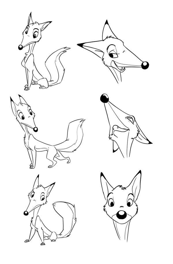 Fox Character Study by AriellaMay
