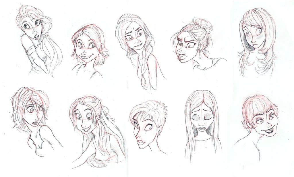 Character/Hair Study by AriellaMay