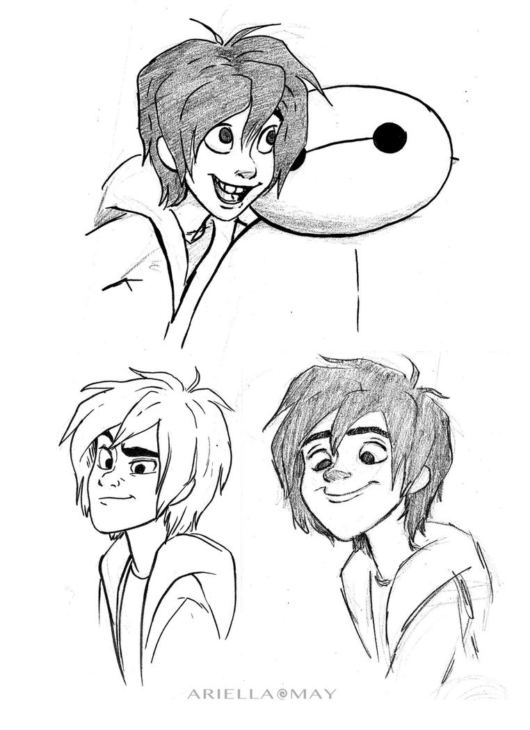 Hiro and baymax drawing