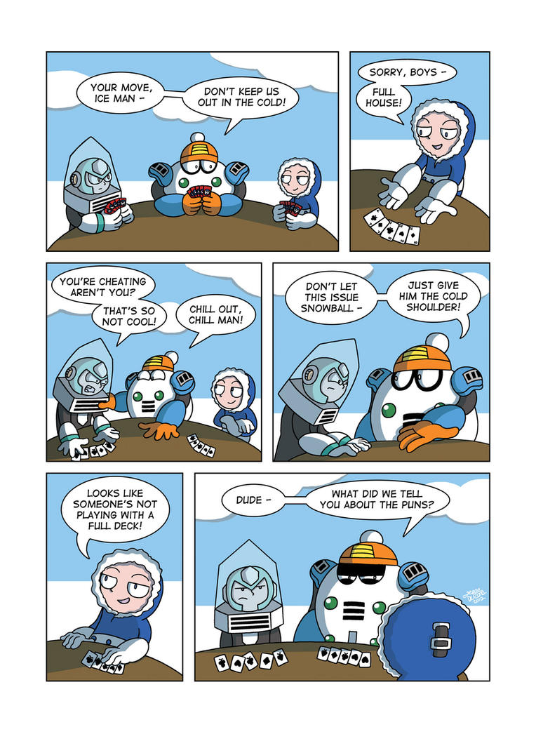 Despondent Mega Man - Cold As Ice by JesseDuRona