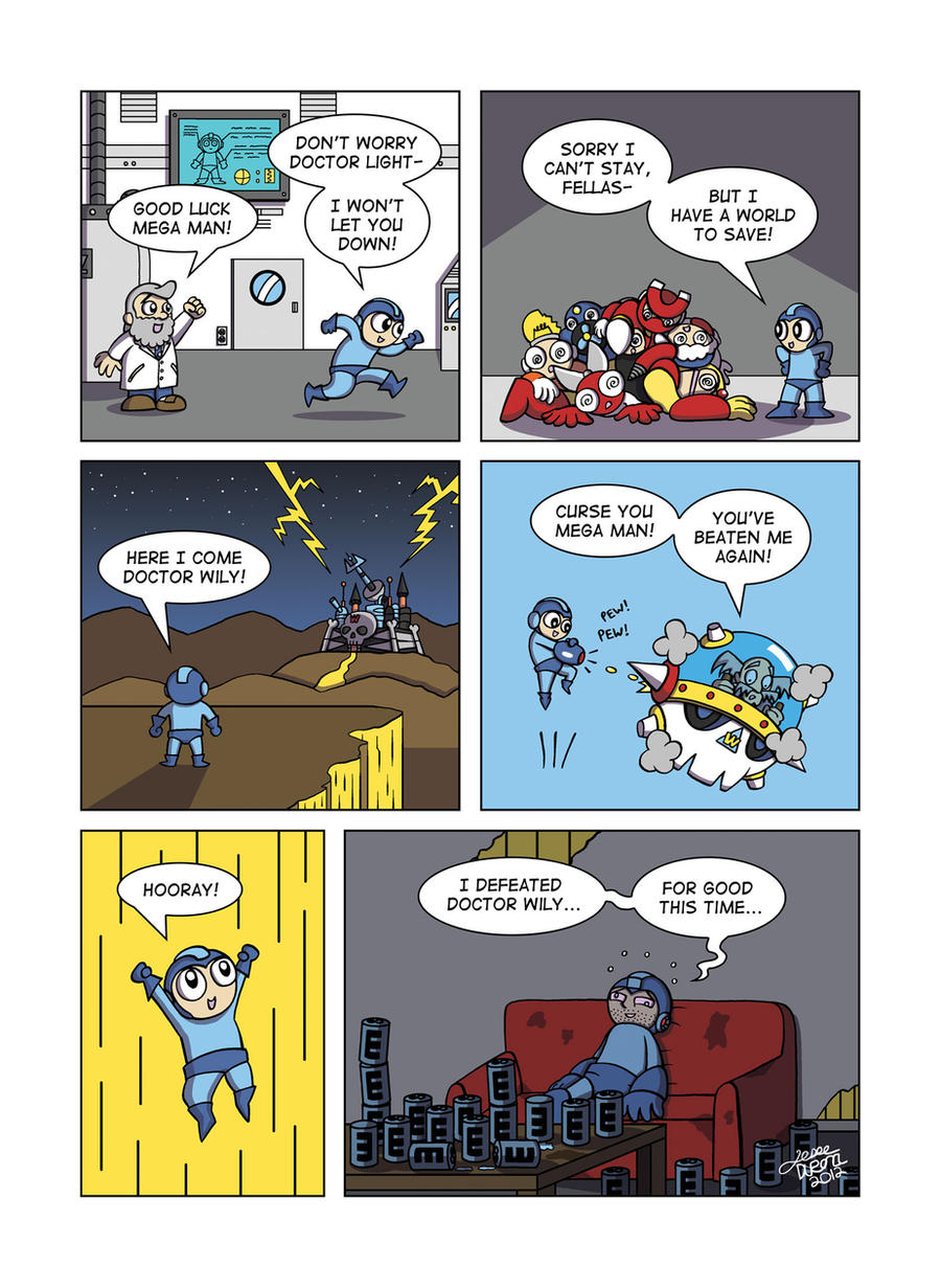 Despondent Mega Man - Bad Days Part 0 by JesseDuRona