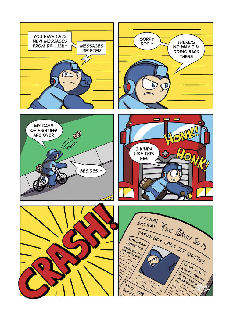 Despondent Mega Man - Bad Days Part 9 by JesseDuRona