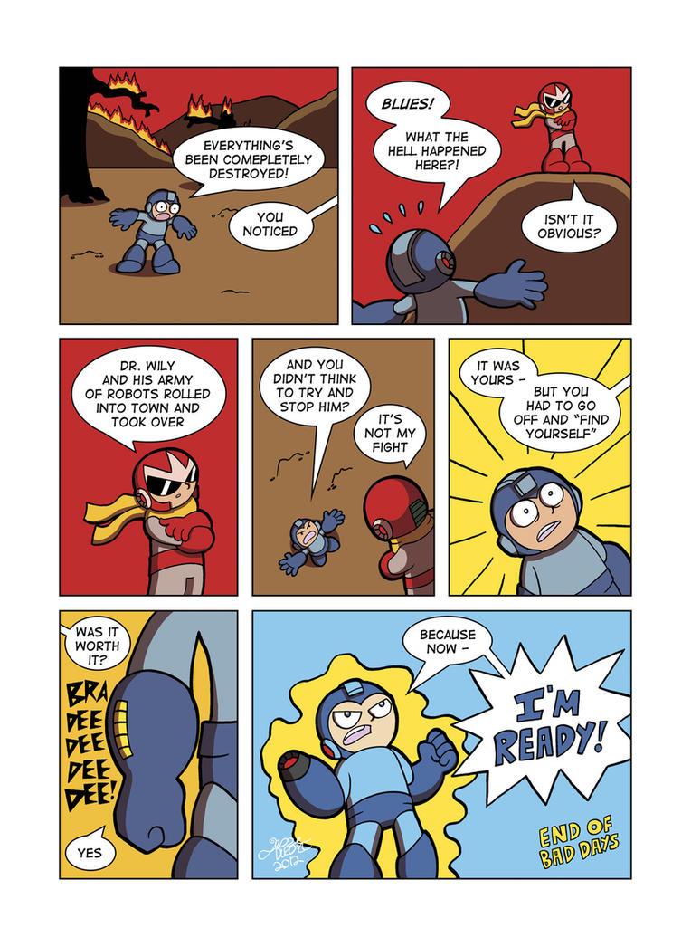 Despondent Mega Man - Bad Days Part 12 by JesseDuRona
