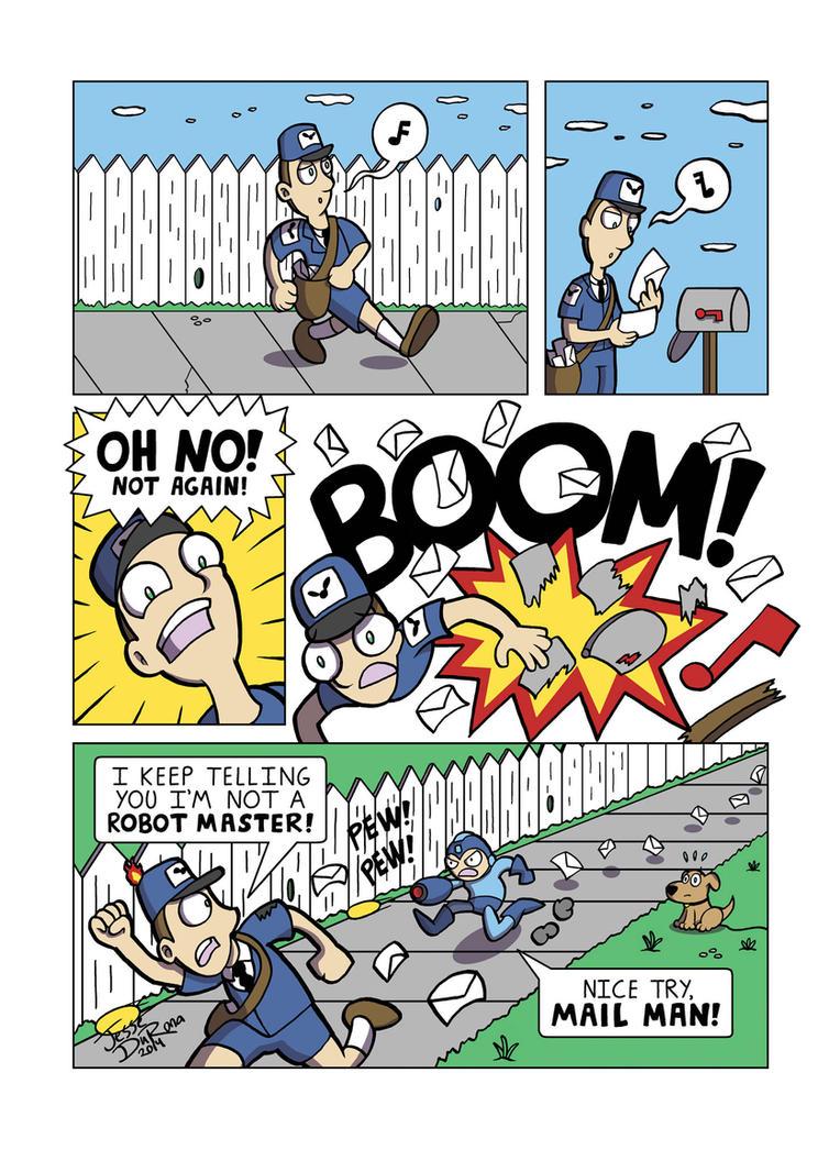Despondent Mega Man - Special Delivery by JesseDuRona