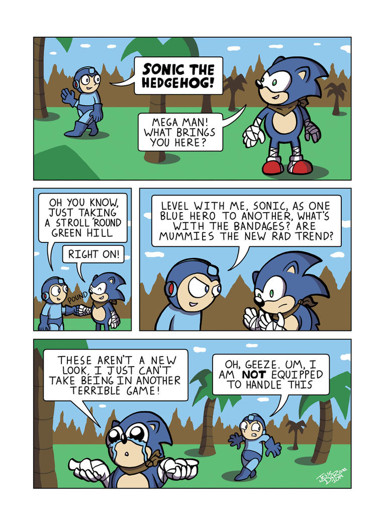 Despondent Mega Man - Not Quite Passed by JesseDuRona