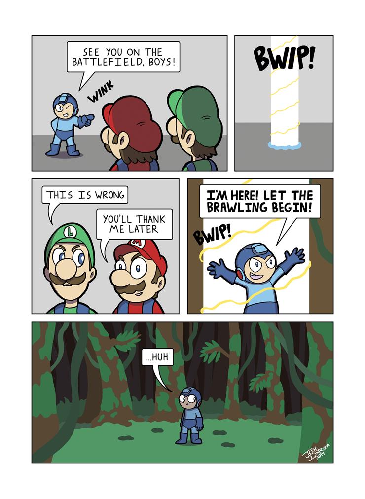 Despondent Mega Man - Island of Misfit Games 4 by JesseDuRona