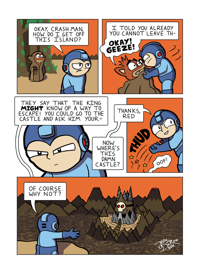 Despondent Mega Man Island of Misfit Game Part 7 by JesseDuRona