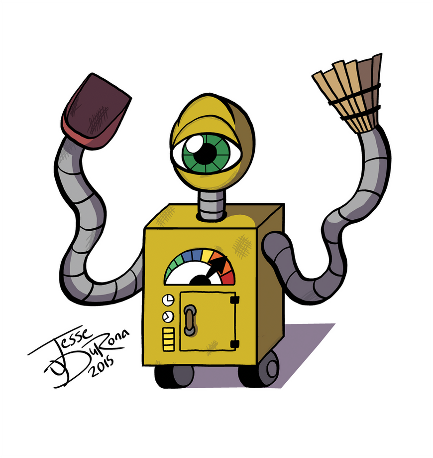 Daily Drawing - VacBot 2,000 by JesseDuRona