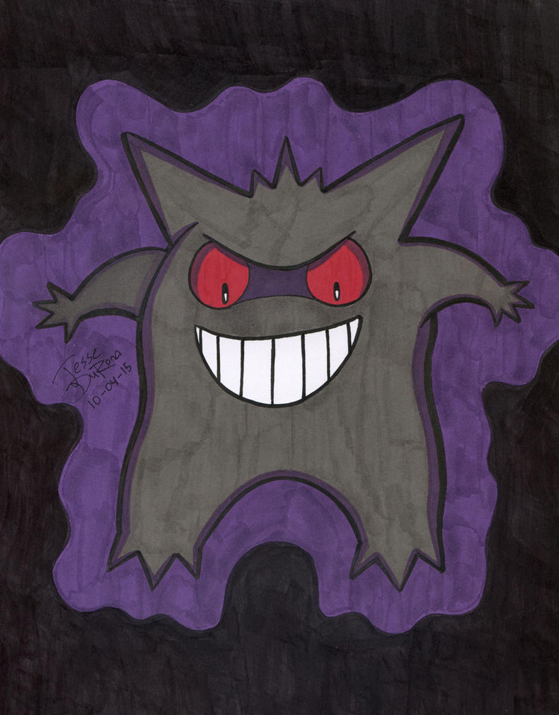 31 Days of Horror #04 - Gengar by JesseDuRona