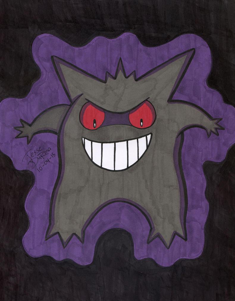 31 Days of Horror #04 - Gengar by JesseDuRona