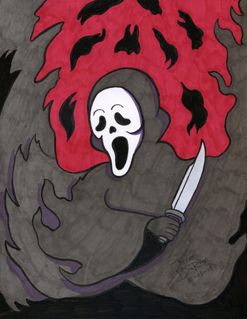 31 Days of Horror #05 - Ghostface by JesseDuRona