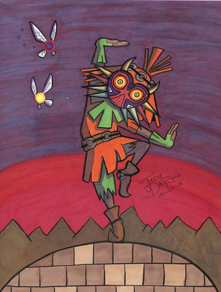 31 Days of Horror #07 - Skull Kid by JesseDuRona