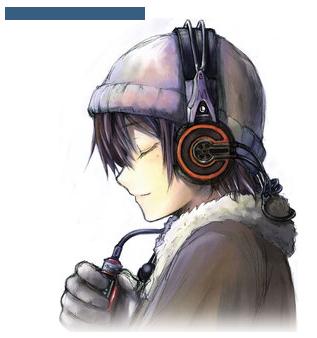 anime boy listening to music cute cute pinterest