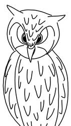 Eagle Owl (sketch) by Imaflashdemon