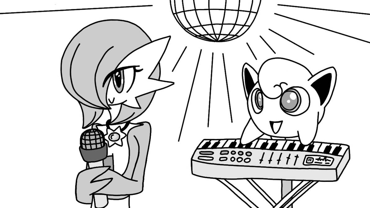 Gardevoir Is Singing (sketch) by Imaflashdemon