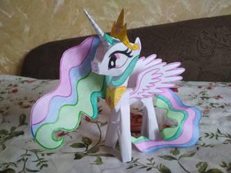 Princess Celestia Papercraft (version 1) by Imaflashdemon