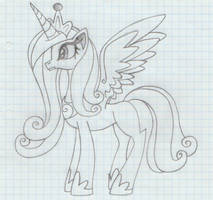 Princess Cadence (my first drawing)
