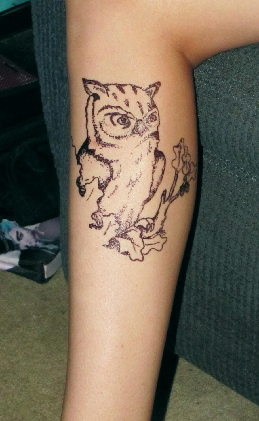 Owl Tattoo by  Owl Eyes Tattoo