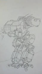 Mech for a game by ON1-K