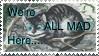 Mad Cheshire Cat stamp by XxFlameFrost101xX