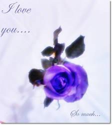 Purple Flower Of Love