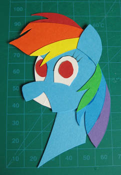 2D Paper Portrait - Rainbow Dash