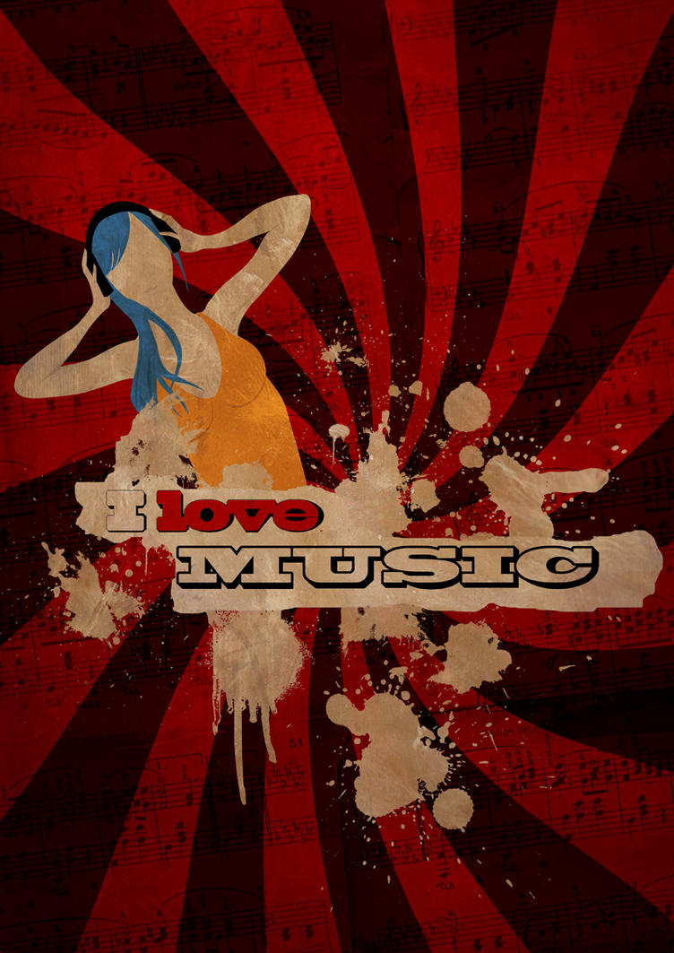 I love Music poster by Elyan-Dreams