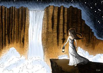 Waterfall by Elyan-Dreams