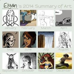 2014 Summary of Art by Elyan-Dreams