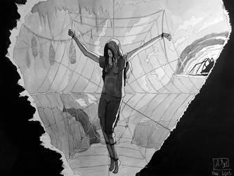 Spider's web by Elyan-Dreams
