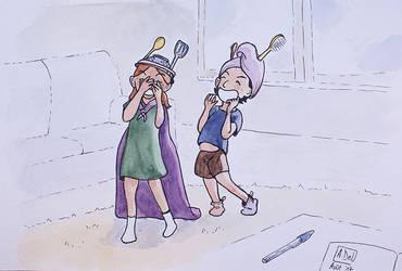 Those hats. by Elyan-Dreams