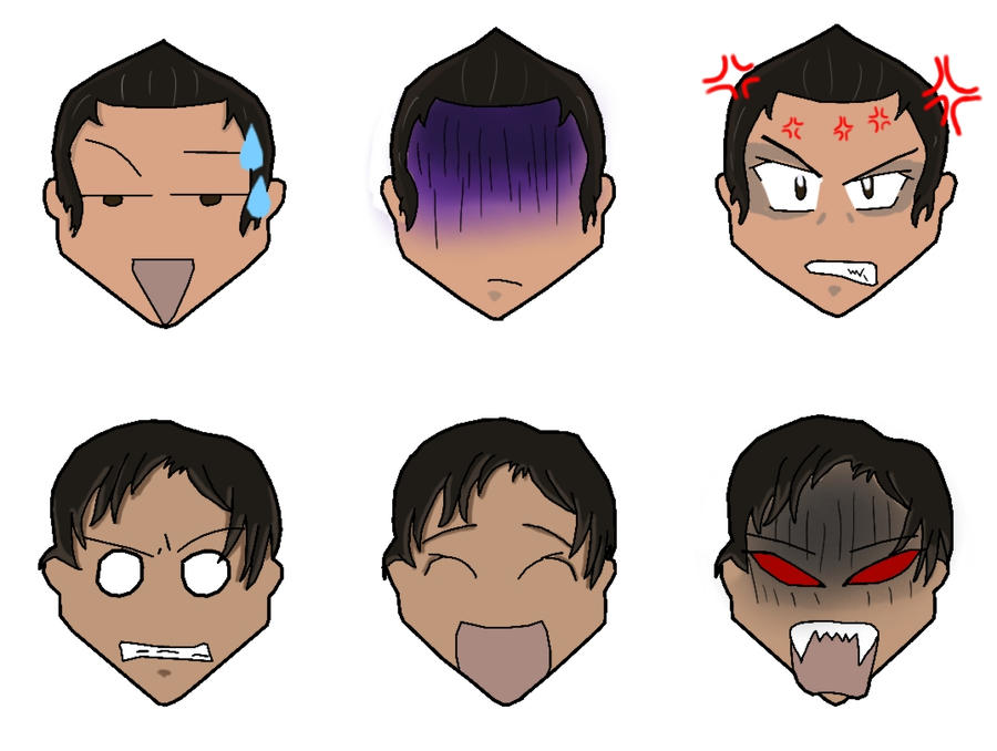 Expressions Chibi by BenjiPrice on DeviantArt