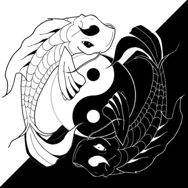 Ying Yang Koi Fish by BenjiPrice