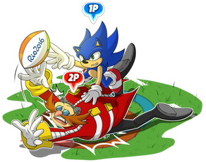 Mario And Sonic at the Rio Olympic games - Rugby