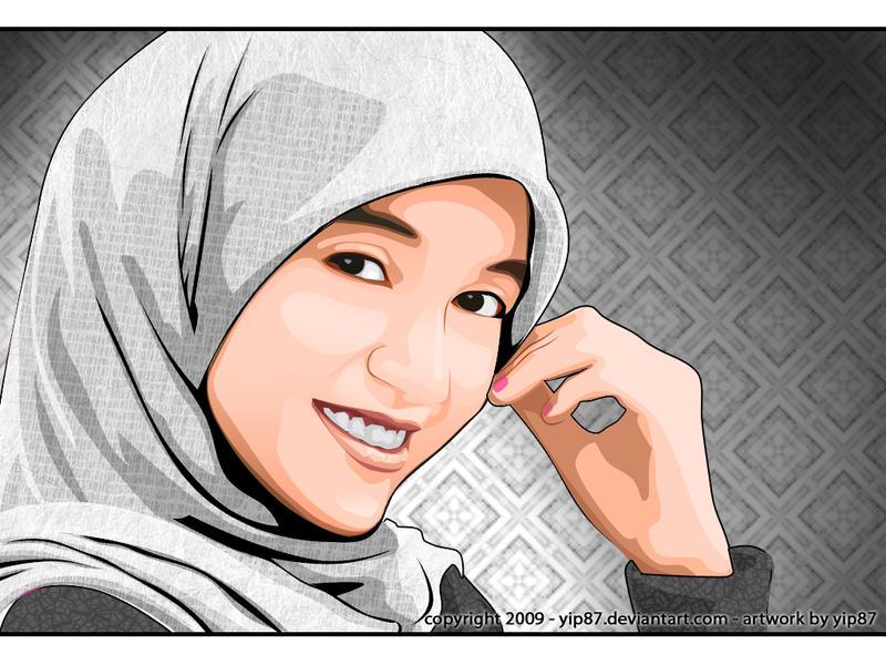 Gambar Wanita Muslimah Art
