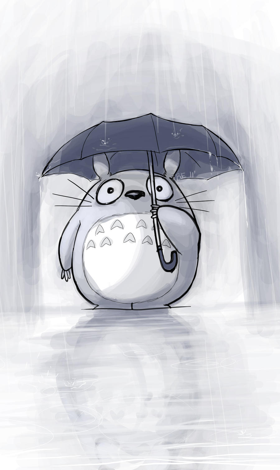 Totoro - Rainy Days by RErrede on deviantART