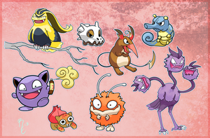 Pokemon Fusions by RErrede