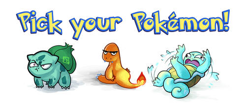 Starter Pokemon by RErrede