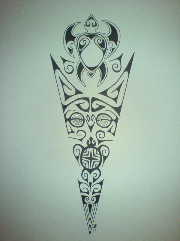 mor marquesean - chest tattoo