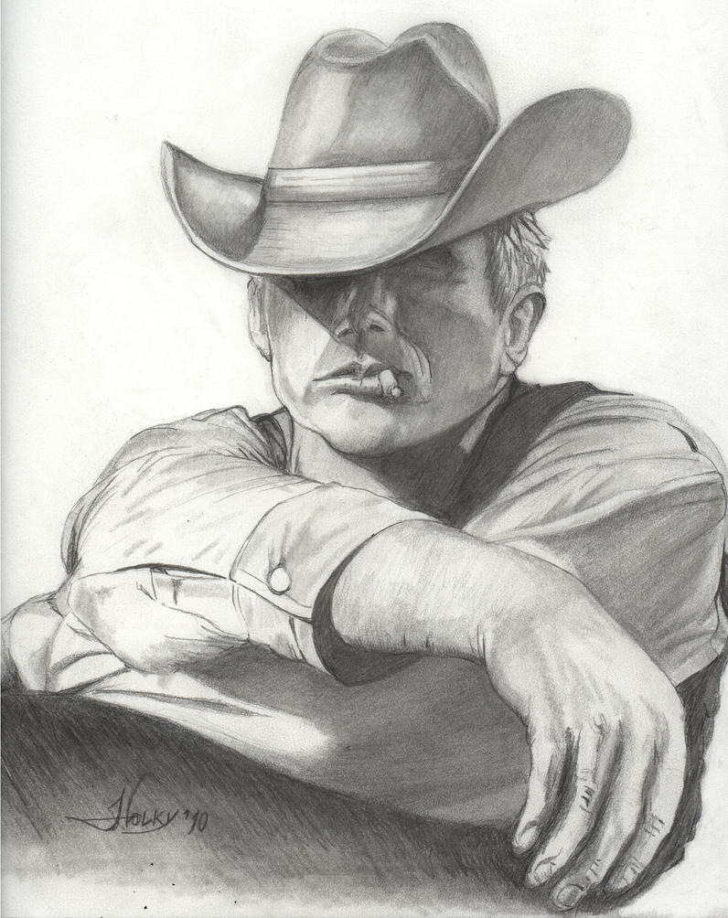 Cowboy sketch drawings - photo#14