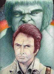 Bill Bixby and Lou Ferigno by westernman