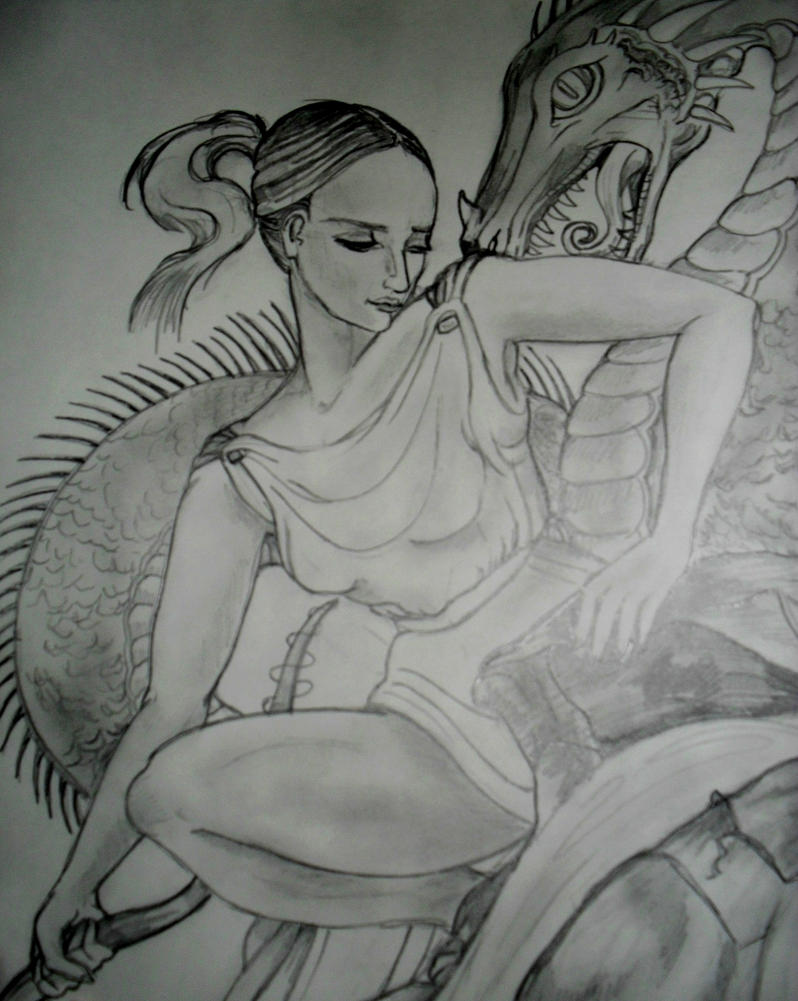 Daphne 1st priestess of Delphi by templeofapollon