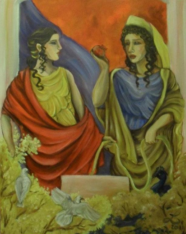 Domestic Harmony : Aphrodite and Hera by templeofapollon