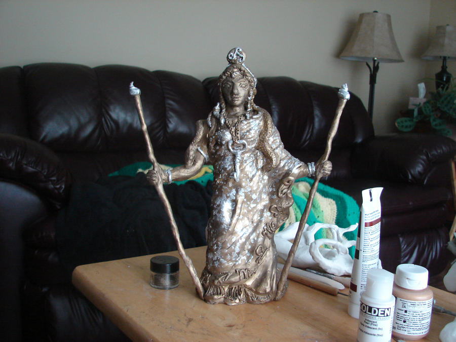 Hekate statue (commissioned) by templeofapollon